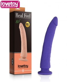 Фаллос Real Feel Silicone Dildo пурпурный
