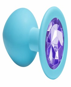 Анальная пробка Emotions Cutie Medium Turquoise light purple crystal