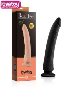Фаллос Real Feel Silicone Dildo черный