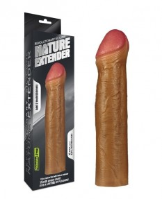 Насадка на пенис Revolutionary Silicone Nature Extender мулат плюс 5 см
