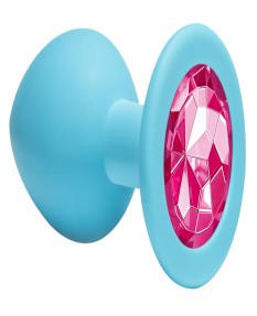 Анальная пробка Emotions Cutie Medium Turquoise pink crystal