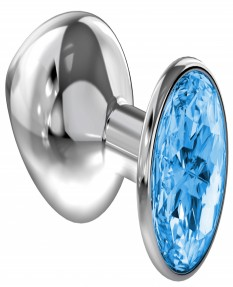 Анальная пробка Diamond Light blue Sparkle Large