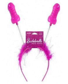 Обруч на голову с рожками-пенисами Bachelorette Party Favors Pecker Boppers
