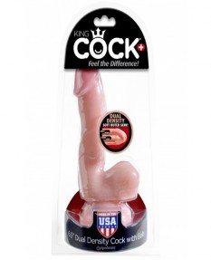 "Фаллоимитатор King Cock Plus 6.5"" Dual Density Cock w/ Balls"