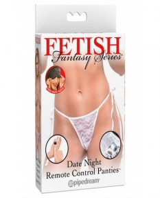 Вибро-трусики FFS Date Night Remote Control Panties белые