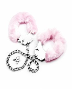 Поножи Fetish Pleasure Fluffy Leg Cuffs розовые