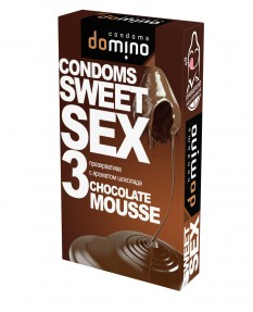Презервативы DOMINO SWEET SEX Chocolate mousse 3 шт
